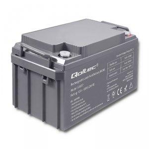 Qoltec Akumulator AGM | 12V | 65Ah | max. 19.5A