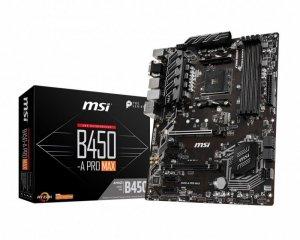 MSI Płyta główna B450-A PRO MAX AM4 DDR4 HDMI/DVI/VGA ATX