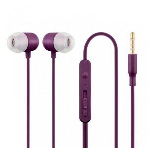 ACME Europe Słuchawki z mikrofonem HE21P douszne fioletowe