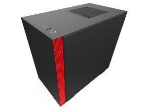 NZXT Obudowa H210 z oknem, Czarno-czerwona