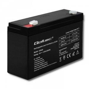 Qoltec Akumulator AGM 6V | 12Ah