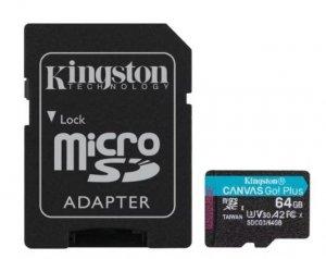 Kingston Karta microSD  64GB Canvas Go Plus 170/70MB/s Adapter