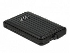 Delock Kieszeń zewnętrzna HDD/SSD Sata 2,5 cala USB-C 3.1 IP66 Czarna