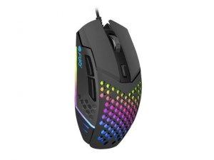 NATEC Mysz Fury Battler 6400 DPI dla graczy podświetlenie Czarna