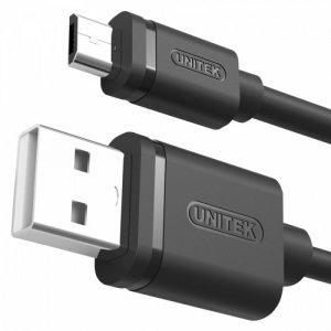 Unitek Kabel USB - microUSB 2.0, 2M, M/M; Y-C455GBK