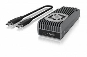 IcyBox IB-1922MF-C32 USB 3.2 (GEN 2x2), M.2 NVMe SSD, Aktywne chłodzenie
