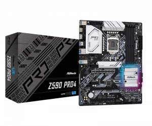 ASRock Płyta główna Z590 Pro4 s1200 4DDR4 HDMI/DP M.2 ATX