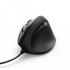 Hama Mysz przewodowa EMC-500 ergonomiczna Czarna