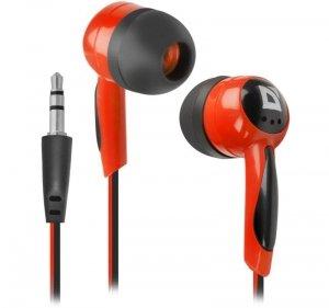 Defender Słuchawki douszne BASIC 604 przewodowe Czarno-czerwone