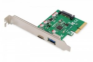 Digitus Karta rozszerzeń (Kontroler) USB 3.1 PCI Express USB A/ Typ C  3.1 Gen.2 10Gbps Chipset: ASM1142