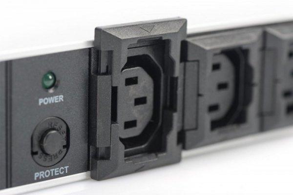 Digitus Listwa zasilająca PDU 19 cali RACK 10xC13, 2m 1xC14, 10A aluminiowa