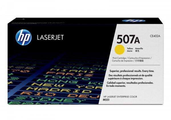 HP Inc. Toner 507A Żółty 6k CE402A