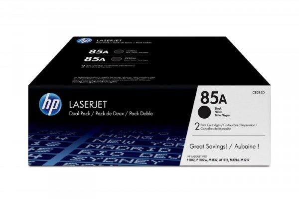 HP Inc. Toner 85A LJ P1102 1.6k Dwupak CE285AD