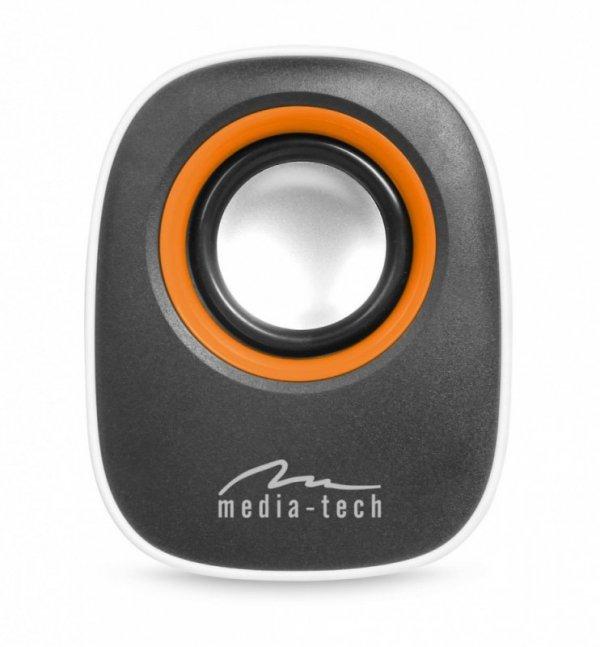 Media-Tech IBO - GŁOŚNIKI STEREO ZASILANE Z PORTU USB, RMS 6W, REGULACJA    GŁOŚNOSCI, BIAŁE