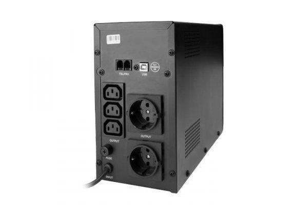 Gembird UPS LINE-INTERACTIVE 1500VA 3X IEC, 2X SCHUKO 230V, USB, RJ11 IN/OUT, LCD