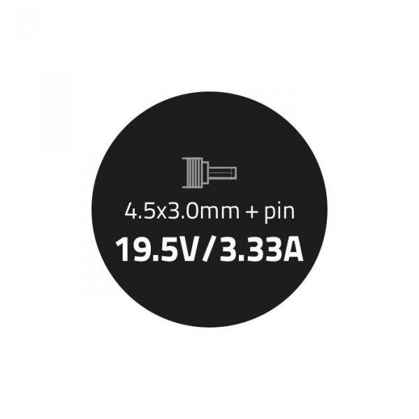 Qoltec Zasilacz do HP Compaq 65W | 19.5V | 3.33A | 4.5*3.0+pin