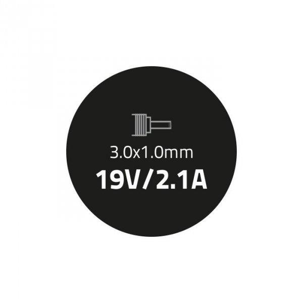 Qoltec Zasilacz do ultrabooka Samsung 40W   19V   2.1A   3.0*1.0