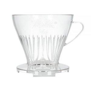 Melitta plastikowy dripper do kawy 1x4 z łyżką - Przeźroczysty