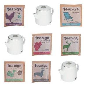 Zestaw herbat Teapigs + 3 imbryki
