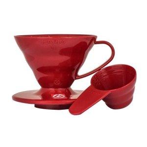 Hario plastikowy Drip  V60-01 Czerwony