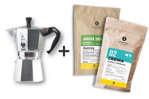 Zestaw Kawiarka + 2 x kawa 8 grams