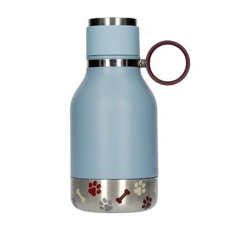 Asobu - Dog Bowl Bottle Stainless Steel Niebieska - Butelka z miską dla psa 1,1L