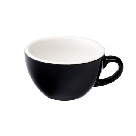 Loveramics Egg - Filiżanka i spodek Cappuccino 200 ml - Black