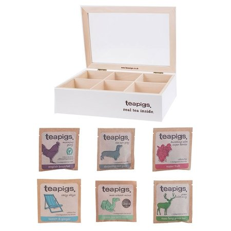 teapigs zestaw 6 herbat + prezenter