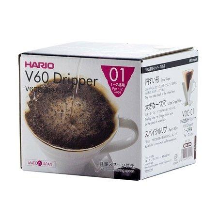 Hario ceramiczny Drip V60-01 Czerwony