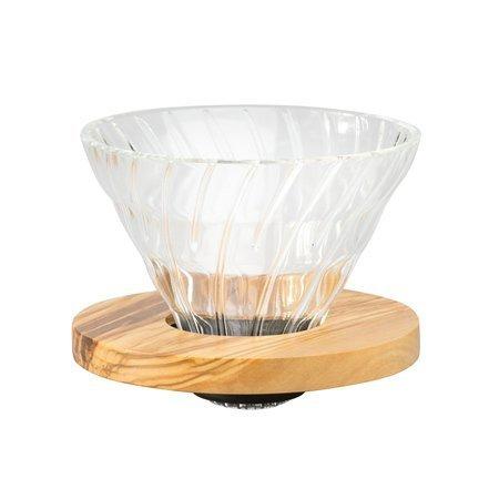 Hario szklany Drip V60-02 - Olive Wood