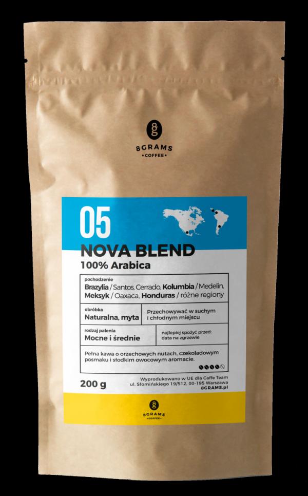 Nowa Blend 200g, kawa z palarni, kawa ziarnista, kawa mielona, mieszanka, arabica, robusta