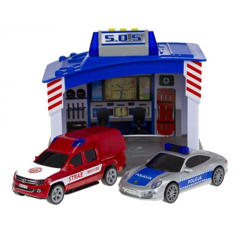 DICKIE SOS Baza ratunkowa Policja Straż Porsche Volkswagen