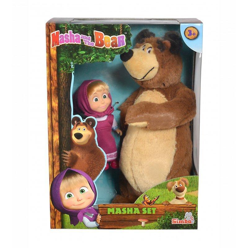 Simba Zestaw 2w1 Lalka Masza i Pluszowy Niedźwiedź