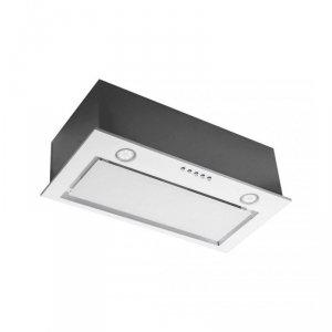Okap podszafkowy do zabudowy CIARKO SL-BOX Glass 60 Biały (600 mm, białe szkło)