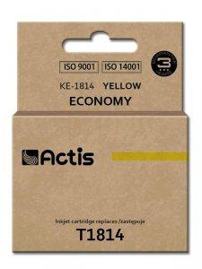 Tusz ACTIS KE-1814 (zamiennik Epson T1814; Standard; 15 ml; żółty)
