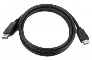 Kabel GEMBIRD CC-DP-HDMI-3M (HDMI M - DisplayPort M; 3m; kolor czarny)