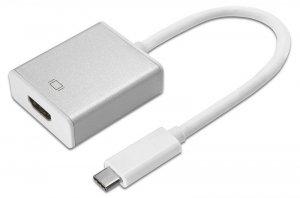 Adapter do kabli Maclean MCTV-841 (Micro USB typu C M - HDMI F; kolor biało-szary)