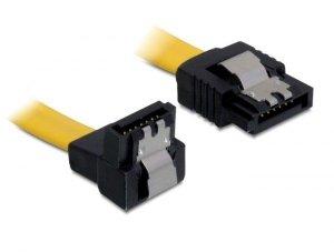 Kabel DELOCK 82806 (SATA - SATA ; 0,30m; kolor żółty)