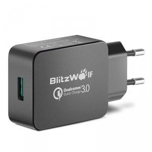 Ładowarka sieciowa BlitzWolf BW-S5 EU Black (USB 3.0; kolor czarny)