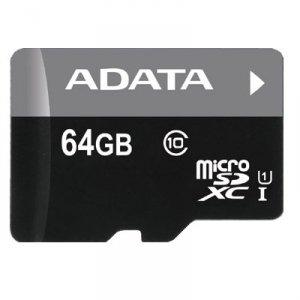 Karta pamięci ADATA Premier AUSDX64GUICL10-RA1 (64GB; Class 10, Class U1; Adapter)