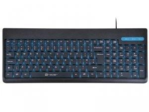 Klawiatura membranowa Tracer REEF TRAKLA45234 (USB; (US); kolor czarno-niebieski)