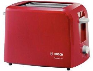 Toster BOSCH CompactClass TAT3A014 (980W; kolor czerwony) (WYPRZEDAŻ)