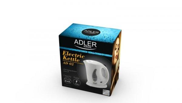 Czajnik elektryczny Adler AD 02 (760W 0.6l; kolor biały)