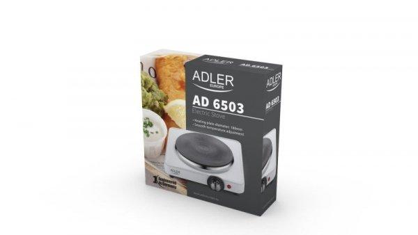 Adler AD 6503 płyta kuchenna Biały Wbudowany Płyta uszczelniona 1 stref(y)