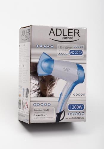 Adler AD 2222 Suszarka do włosów Niebieski, Biały 1200 W