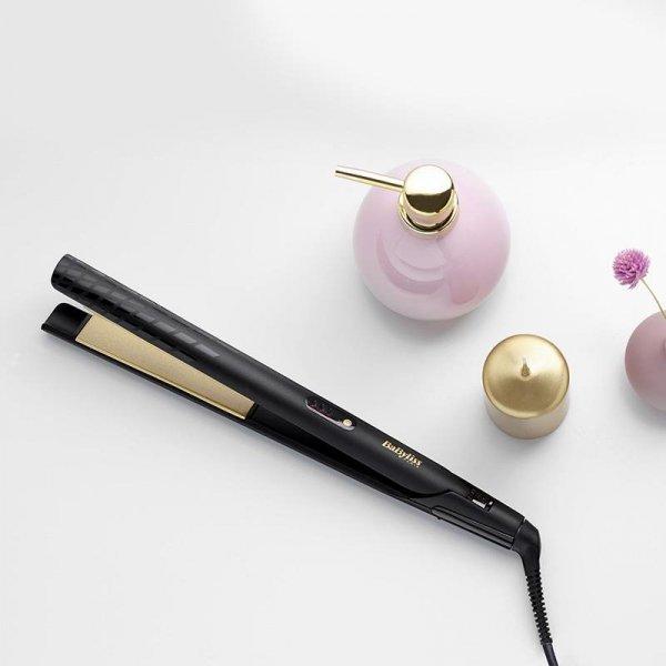 Prostownica do włosów Babyliss Gold Ceramic ST420E (45W; kolor czarno-czerwony)