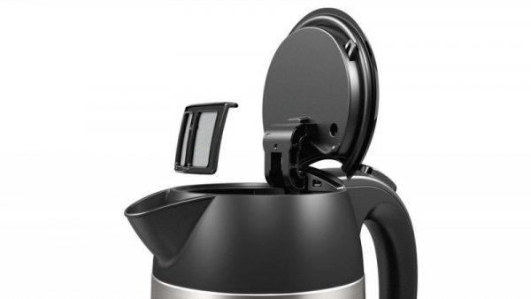 Bosch TWK3P420 czajnik elektryczny 1,7 l Czarny, Stal nierdzewna 2400 W