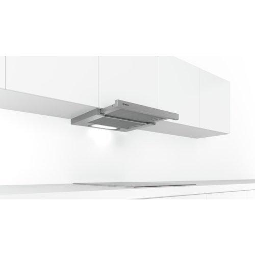 Bosch Serie 4 DFT63AC50 okap kuchenny 360 m³/godz Pół wbudowany (wyciągany) Srebrny D