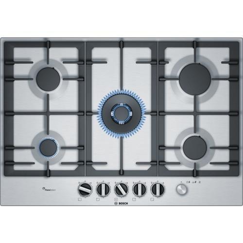 Bosch Serie 6 PCQ7A5M90 płyta kuchenna Stal nierdzewna Wbudowany Gaz 5 zone(s)