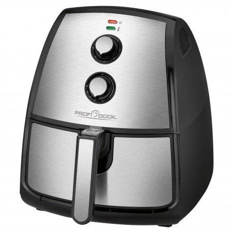 Clatronic PC-FR 1115 H Frytkownica na gorące powietrze 3,5 L Pojedyńczy Czarny, Stal nierdzewna Autonomiczny 1500 W